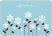 ベクターの花の壁紙デザイン — ストックベクタ