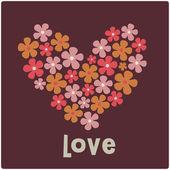 Love card design — Vector de stock