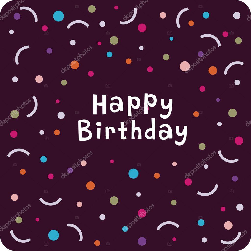 vector birthday card design  stock vector © vectorrgb, Birthday card