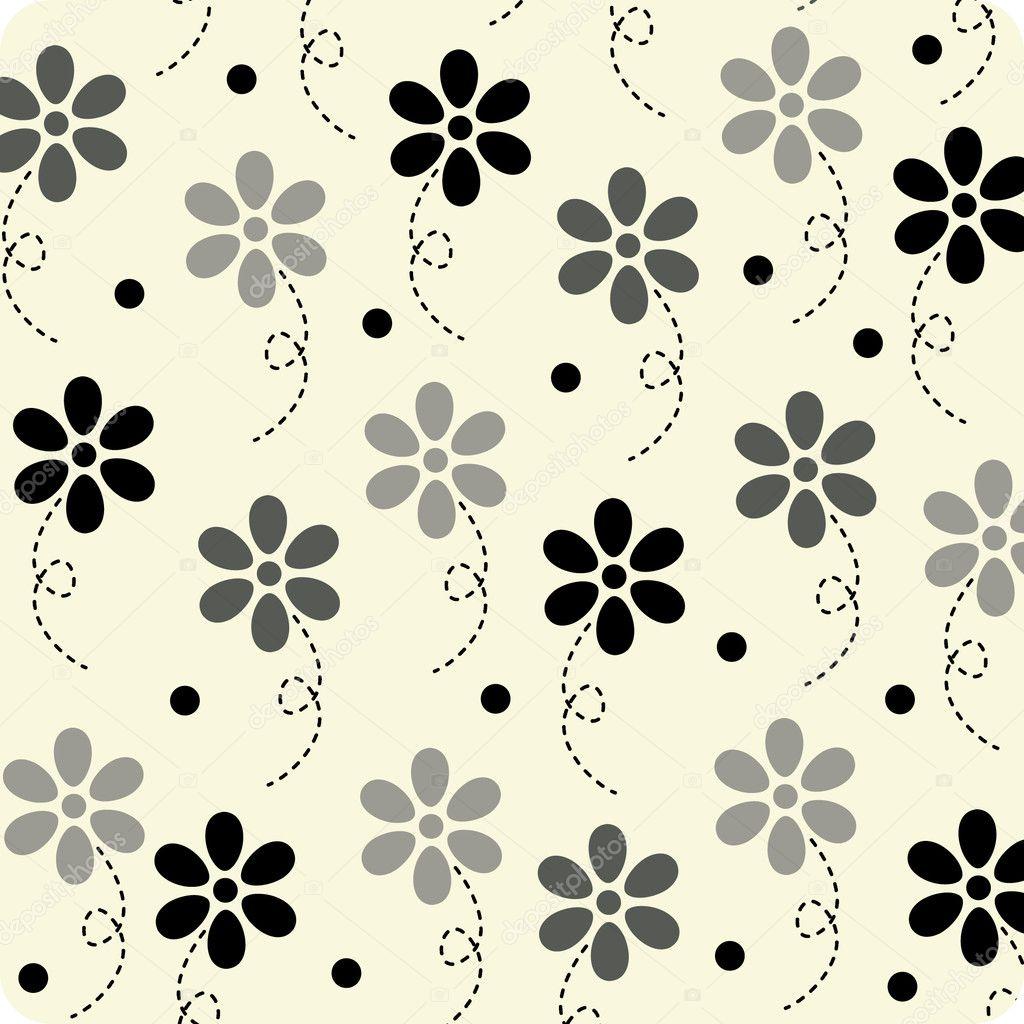 Vector flower wallpaper design stock illustration