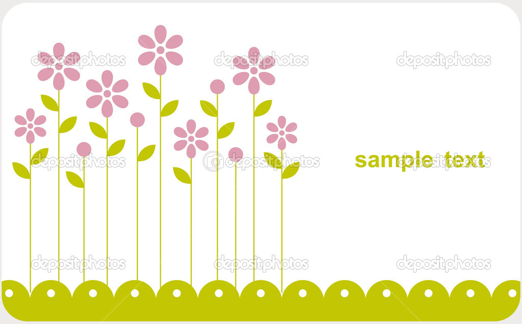 Vector floral card design — Stock Vector #2178410