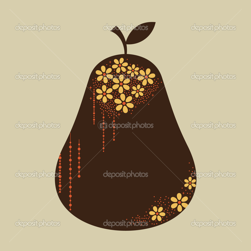 Vector pear design — Stock Vector #2178424