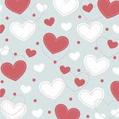Vector hearts background design — Stock Vector