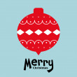 Vector ball of christmas card — Stock Vector
