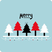Vector xmas tree background — Stock Vector