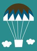 Vector Hot-air balloon card — Stock Vector