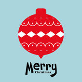 Vector ball of christmas card — Vector de stock