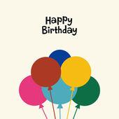 Balloon birthday card design — Stock Vector
