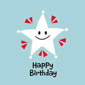 Vector star birthday card design — Stock Vector