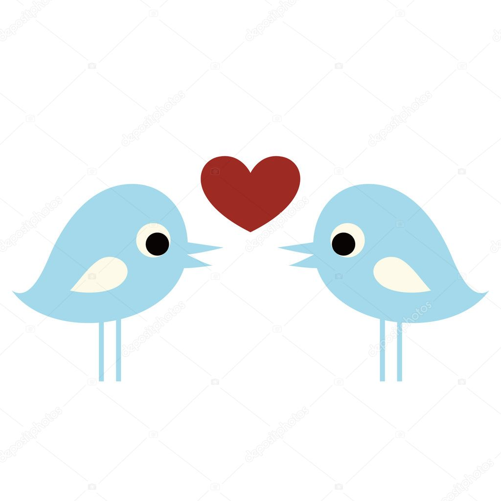 birds with love — Stock Vector #2241522