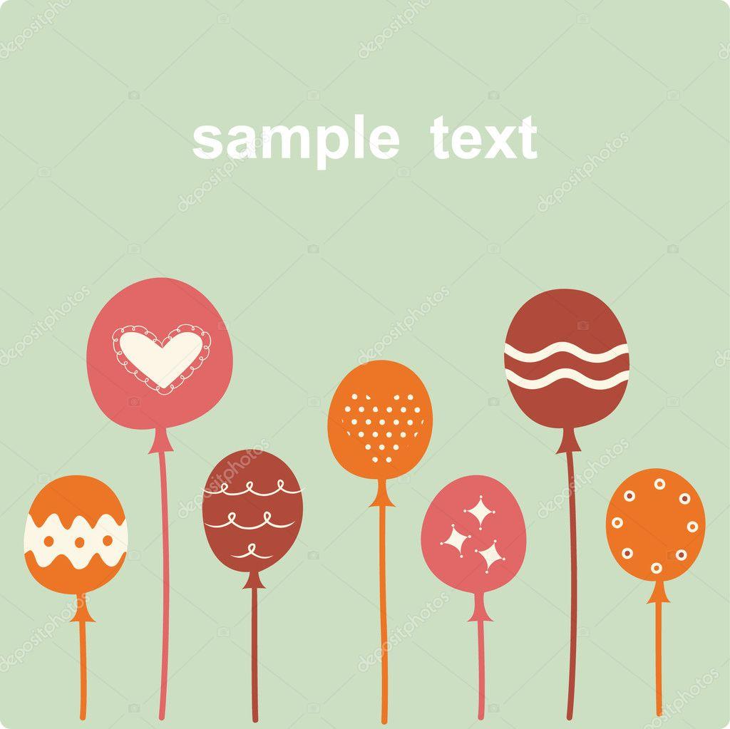 Balloon birthday card design — Stock Vector © vector_rgb #2241552