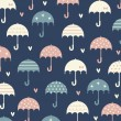 Umbrella with love wallpaper design - Stock Vector