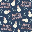 Vector snowman background design — Stock vektor