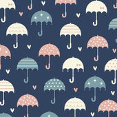 Umbrella with love wallpaper design — Stock Vector