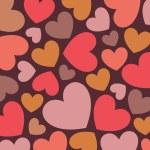Hearts background vector — Stock Photo #2389498