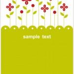 Vector flower background — Stock Photo