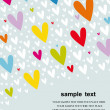 Hearts background vector — Stock Photo #2427814