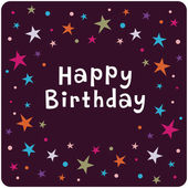 Vector star background birthday card — Stock Photo