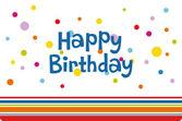 Vector birthday card design — Stock Photo