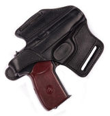 Makarov pistol with holster — Stock Photo