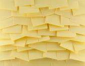 Yello postit background — Stock Photo