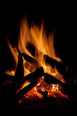 Campfire at night — Stock Photo
