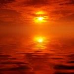 Firing sunset — Stock Photo