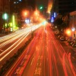 City car trails — Stock Photo