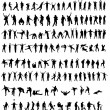Collection of silhouettes - Stockvectorbeeld