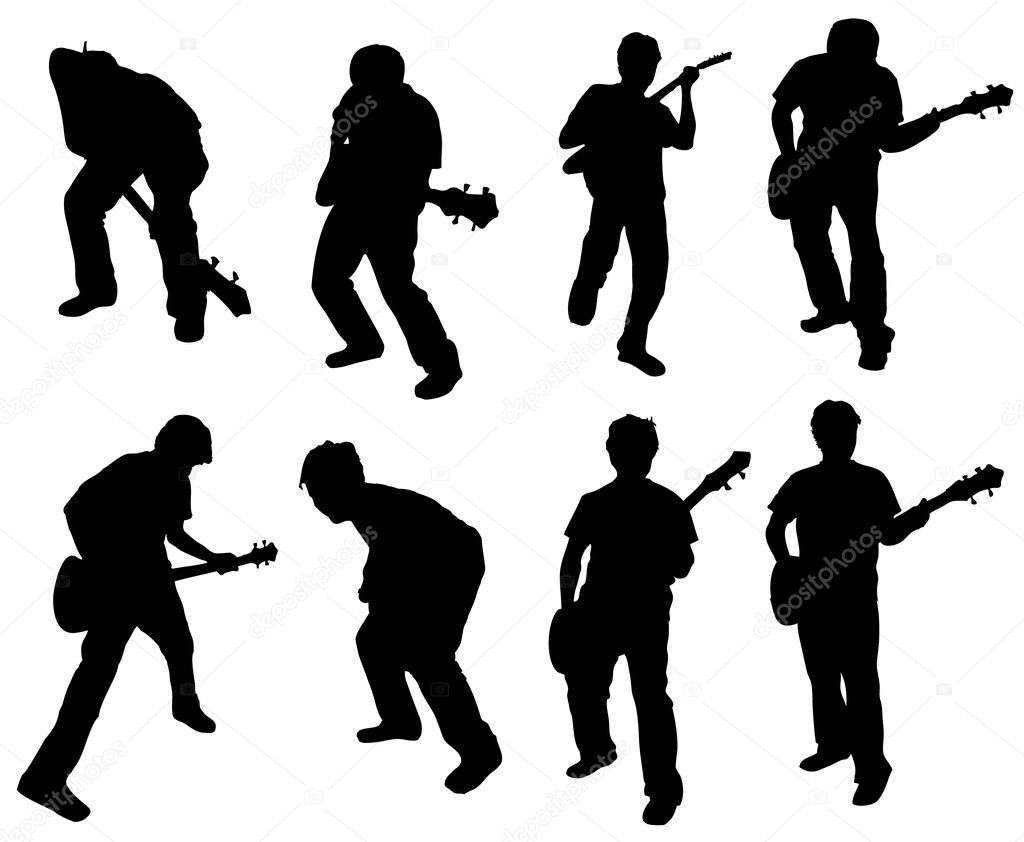 Guitar man — Stock Vector #2153566