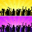 Silhouettes dancing - Stock Vector