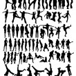 Royalty-Free Stock Imagen vectorial: Collection of silhouettes