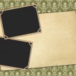 Vintage paper and photo frames — Stock Photo