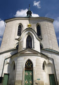 Baroque St. Jan Nepomucky church, Czech — Stock Photo