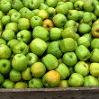 Fresh green apples — Stockfoto
