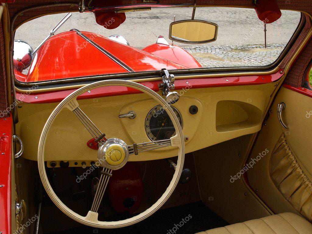 vintage car interior stock photo merial 2306750. Black Bedroom Furniture Sets. Home Design Ideas