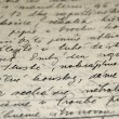 Foto de Stock  : Hand written text texture