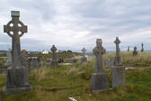 Celtic cemetery, Ireland — Stock Photo