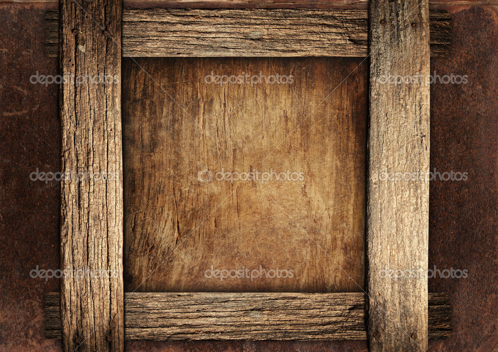 Vintage wooden frame — Stock Photo © katrin5 #2096264