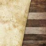 Vintage paper on wood — Stock Photo