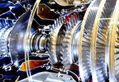 Inside the turbo engine — Stock Photo