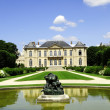 Stock Photo: Manor building and garden Rodin