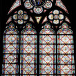 Window pattern in cathedral - Stock Photo