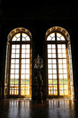 Big window in royal palace — Stock Photo