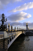 Bridge alexander of PARIS city — Stock Photo