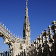 Architecture  of Milan cathedral - Stock Photo