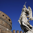 Royalty-Free Stock Photo: Angel statue and castle in ancient Rome