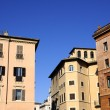 Old building block in Rome city - Stock Photo