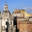 Stok fotoğraf: City scape of Rome city