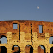 Colosseum ruin of Rome in sunset — Stock Photo